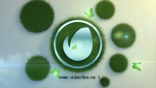Logo en la hierba