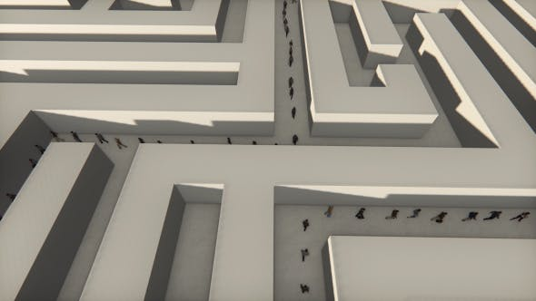 Thumbnail for Tiny People Walking Through a Maze