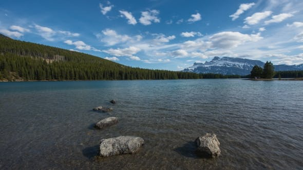 Thumbnail for Two Jack Lake Clouds During Summer Day