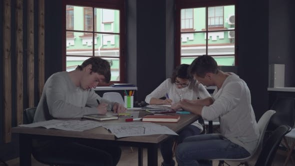 Thumbnail for Group of People Fill Some Document