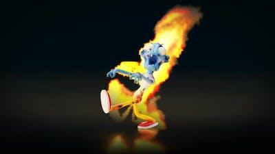 Zombie on Fire