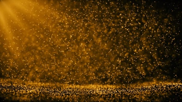 Thumbnail for Golden Ambient Particles Background