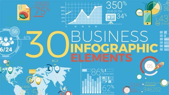 Thumbnail for 30 Éléments d'infographie d'entreprise