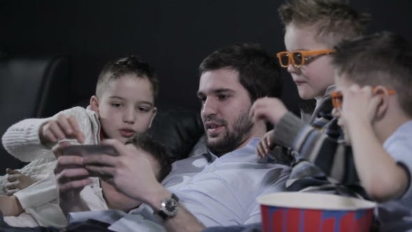 Thumbnail for The Children Looking in the Smartphone Screen