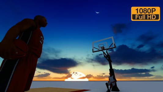 Thumbnail for Basketball and Sunset