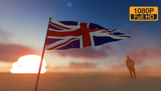 Thumbnail for England Flag and Walking Man