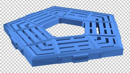 The Pentagon 3D Outline Transforming