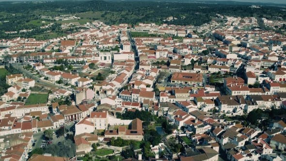 Thumbnail for Aerial View Red Tiled Roofs City