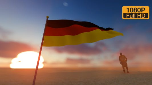Thumbnail for Germany Flag and Walking Man
