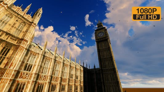 Thumbnail for London City and Big Ben Tower Clock