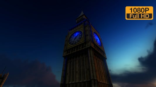 Thumbnail for Big Ben Clock Tower and Sunset Sky