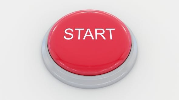 Thumbnail for Pushing Big Red Button with Start Inscription