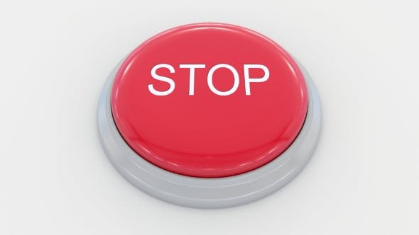 Thumbnail for Pushing Big Red Button with Stop Inscription