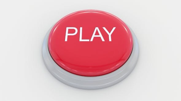 Thumbnail for Pushing Big Red Button with Play Inscription