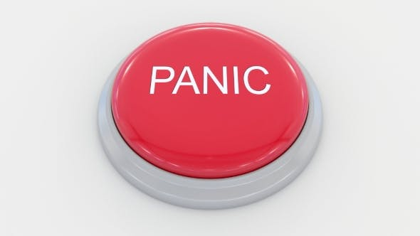 Thumbnail for Pushing Big Red Button with Panic Inscription