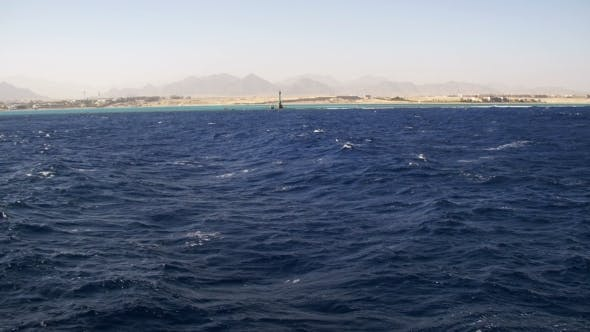 Thumbnail for Boat Trip on the Pleasure Boat in the Red Sea with Views of the Coast Sinai Peninsula, Egypt