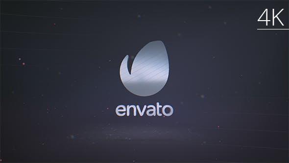 3D Metal Elegant Shatter Logo