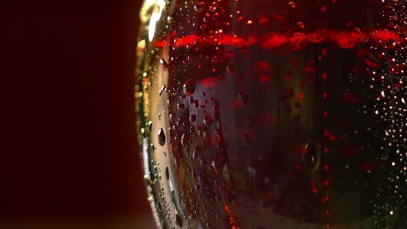 Thumbnail for Beautiful Beer Bubbles on Red Background