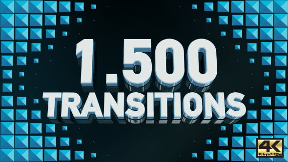 "722 ""transitions"" Video Templates Compatible with Adobe After Effects"