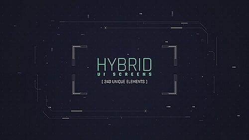 Hybrid Ui Screens/ HUD Pack/ Broadcast 240 Elements/ Digital/ Sci-fi Interface/ Technology/ Iron man