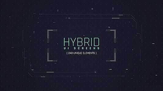 Écran UI hybrides/HUD Pack/Broadcast 240 Elements/ Numérique/Sci-Fi-Interface/ Technologie/Iron Man