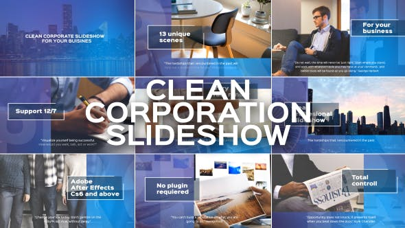 Thumbnail for Clean Corporate Slideshow