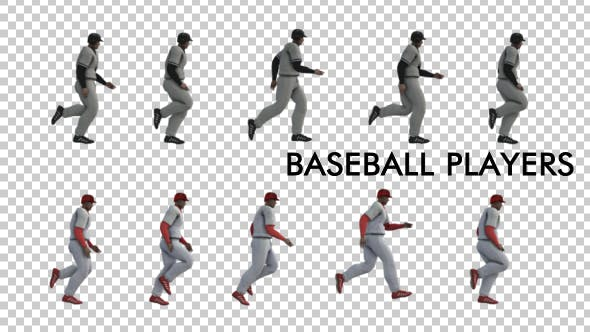 Thumbnail for Baseball Players Running