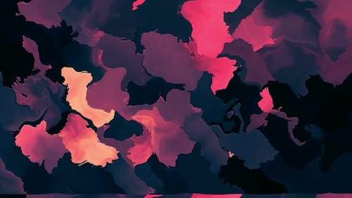 Colorful Flowing Paint Loop