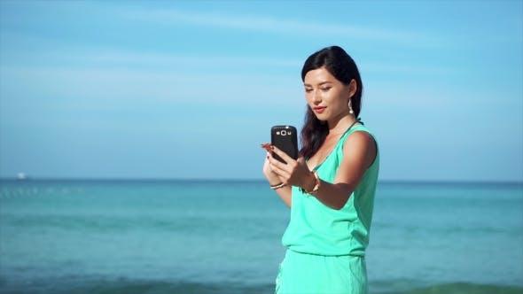 Thumbnail for Travel Girl Taking Selfie on the Phone