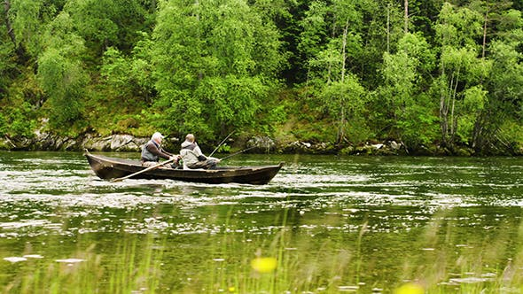 Thumbnail for Old Men Fishing Out Of A Row Boat