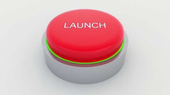 Thumbnail for Big Red Button with Launch Inscription Being Pushed