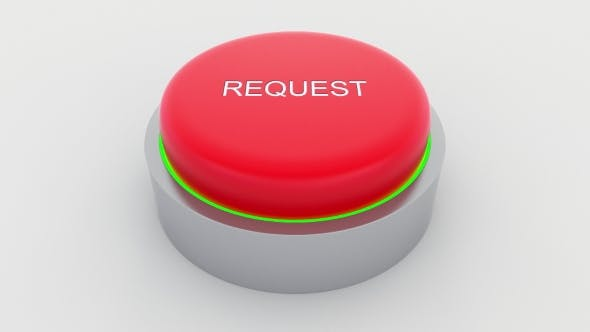 Thumbnail for Big Red Button with Request Inscription Being Pushed