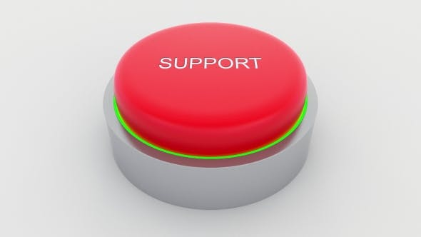 Thumbnail for Big Red Button with Support Inscription Being Pushed