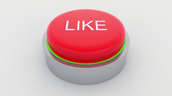 Thumbnail for Big Red Button with Like Inscription Being Pushed