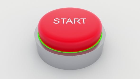 Thumbnail for Big Red Button with Start Inscription Being Pushed