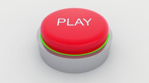 Thumbnail for Big Red Button with Play Inscription Being Pushed