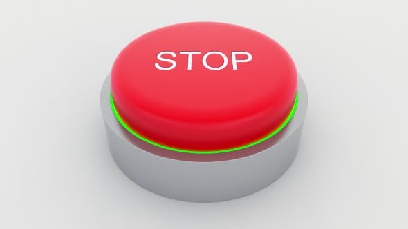 Thumbnail for Big Red Button with Stop Inscription Being Pushed