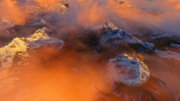 Thumbnail for Abstract Aerial Mountain Landscape at Sunset 1