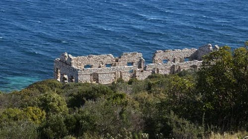 Destroyed Ancient Church By The Sea