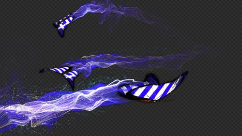 Greece Flag Butterfly Gorgeous Particle Light Trailing Flying V3 HD