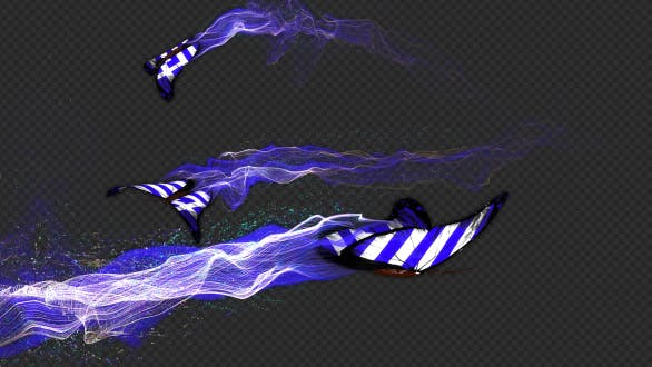 Thumbnail for Greece Flag Butterfly Gorgeous Particle Light Trailing Flying V3 HD