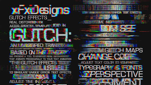 Thumbnail for Glitch Text Effects Toolkit + 30 Title Animation Presets