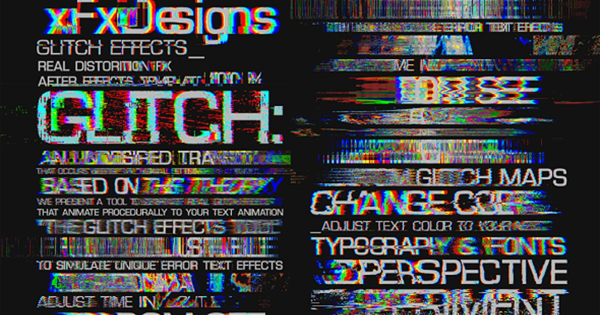Download Glitch Text Effects Toolkit + 30 Title Animation Presets by xFxDesigns