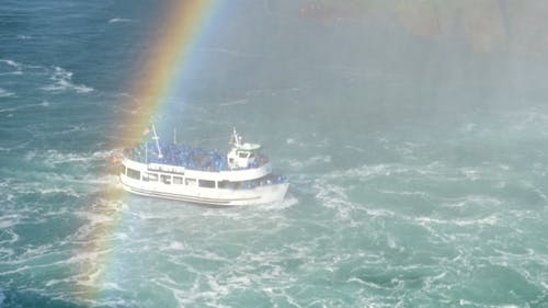 Niagara Falls Cruiser Boat Maid of The Mist with Tourists