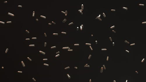 9mm Bullet Floating in Space