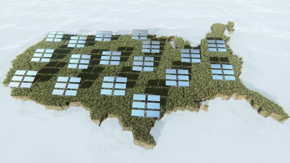 Thumbnail for United States Map and Solar Panels