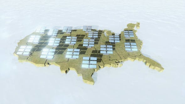 Thumbnail for Solar Panels and US Map