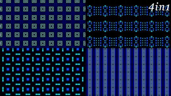 Thumbnail for Techno LED - VJ Loop Pack (4in1)