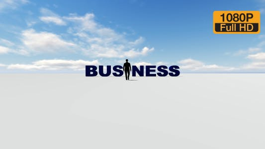 Creative Business Text and Man