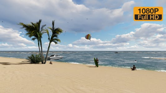 Thumbnail for Beach People and Parasailing